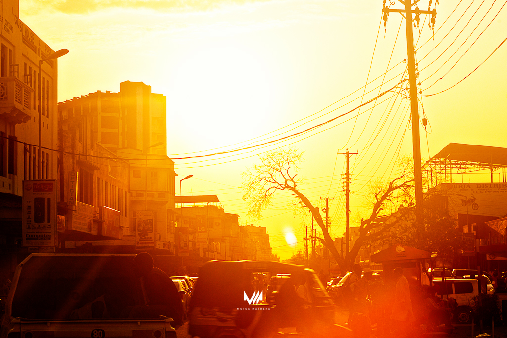Mombasa Street Sunset_by Mutua Matheka